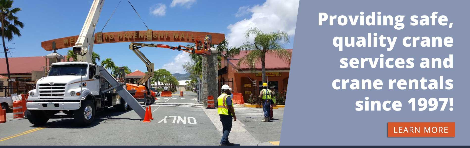 Crane Service and Rental Company in St  Thomas, VI